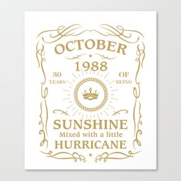 October 1988 Sunshine mixed Hurricane Canvas Print