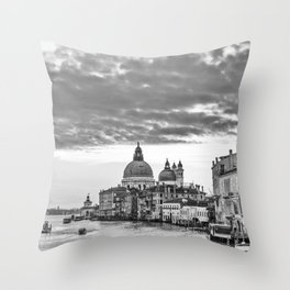 A view of Venice from the Accademia Bridge Throw Pillow