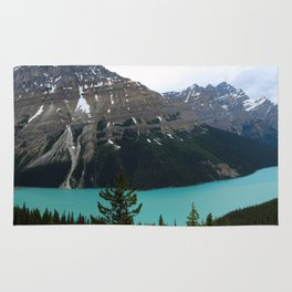 Peyto Lake Panorama Rug