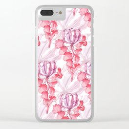 Vortex Floral Pattern from the Impossible Florals Series Clear iPhone Case