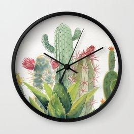 Cactus Watercolor Wall Clock