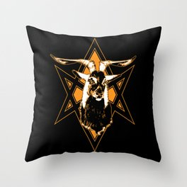 Goat of Mendes Throw Pillow