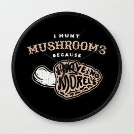 Mushroom Hunt Wall Clock