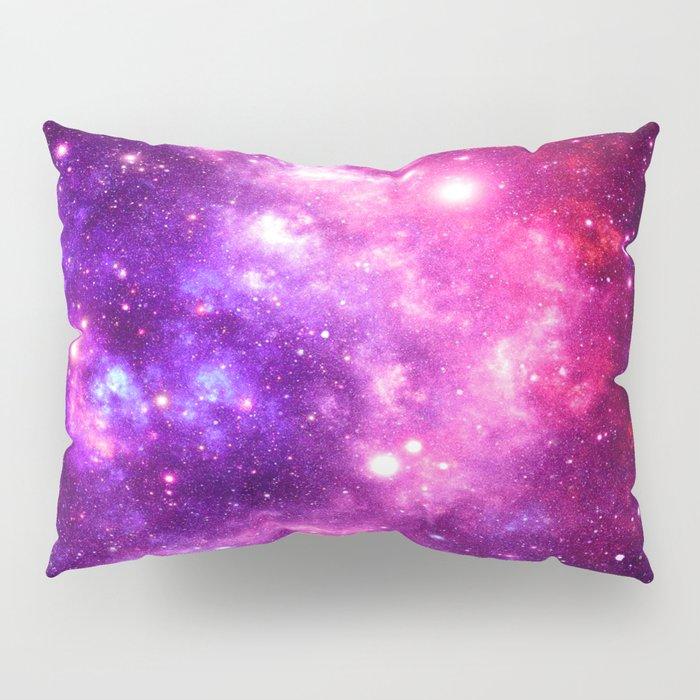 purple pink galaxy nebula pillow sham by vintageby2sweet society6