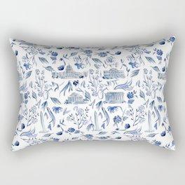 DC in Blue Rectangular Pillow