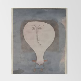 Paul Klee - Fright of a Girl Throw Blanket