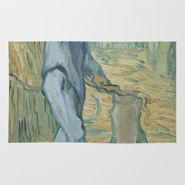 The Woodcutter (after Millet) Rug