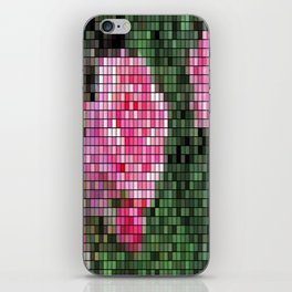 Pink Roses in Anzures 1 Mosaic iPhone Skin