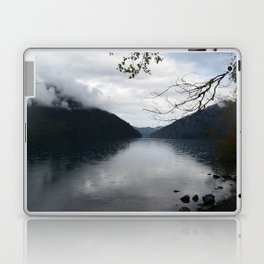 Cloud Covered Lake Crescent Laptop & iPad Skin
