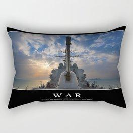 War: Inspirational Quote and Motivational Poster Rectangular Pillow