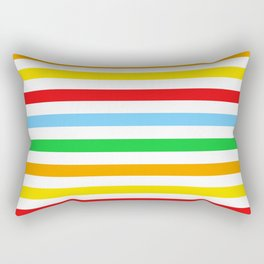 Stripes (Parallel Lines) - Red Blue Green Pink Rectangular Pillow