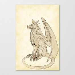 Lyrasz; Portrait of a Young Wyrm Canvas Print