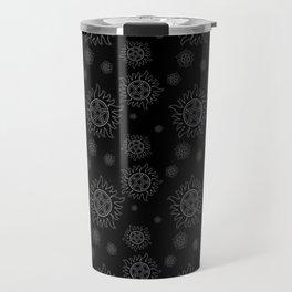 Anti Possession Pattern White Glow Travel Mug
