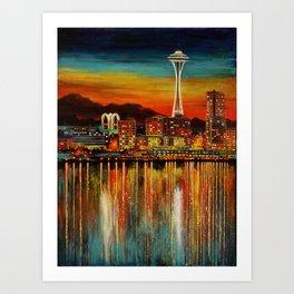 Seattle from Alki Art Print