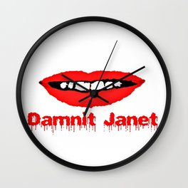 Damnit Janet! Wall Clock