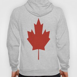 red maple leaf flag of Canada Hoody
