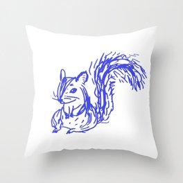 bluepen drawing - D Throw Pillow