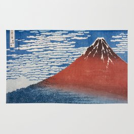 Katsushika Hokusai Mountain Volcano Fine Wind, Clear Morning Rug