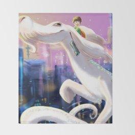 The Luck Dragon Throw Blanket