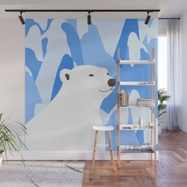 Polar Bear In The Cold Design Wall Mural
