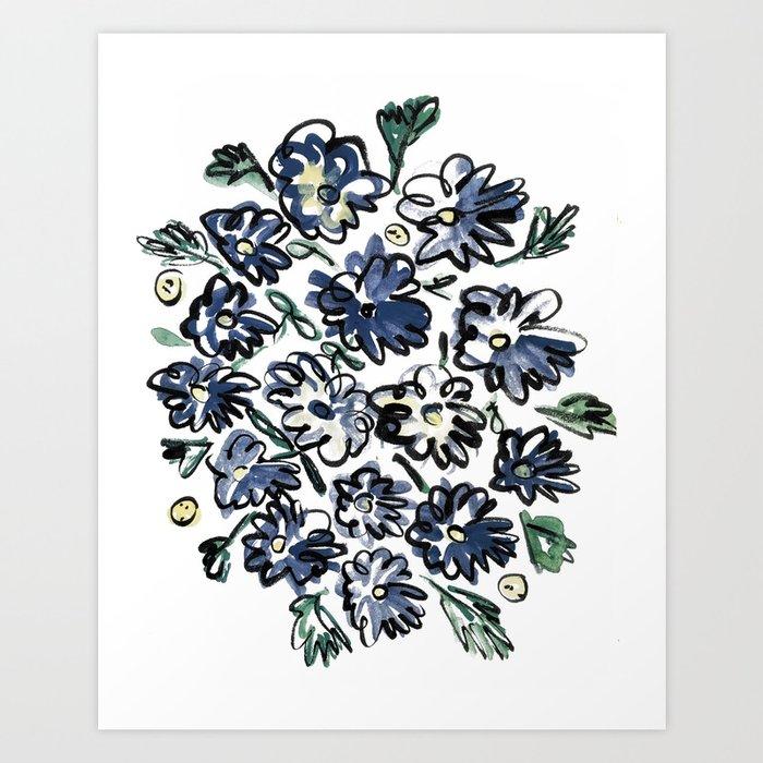 Flower Bunches Art Print