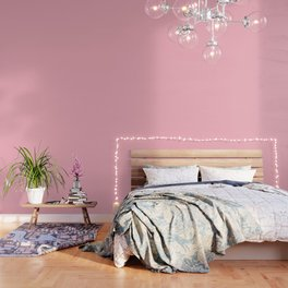 Cherry Blossom Pink - solid color Wallpaper