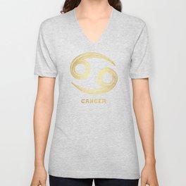 Cancer Zodiac Sign Unisex V-Neck