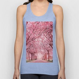 Cherry Blossom in Greenwich Park Unisex Tank Top