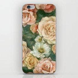 Floral rose pattern iPhone Skin