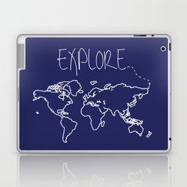 Explore World Map - Navy Laptop & iPad Skin