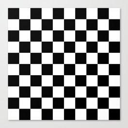 Checkered Pattern: Black & White Canvas Print