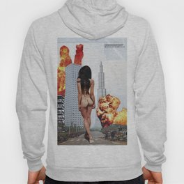I will come back for you [ Kaiju ] - Vintage Collage Hoody
