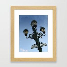 Gaslights On The Broadway Framed Art Print