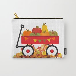 Fall Pumpkins In A Wagon Carry-All Pouch