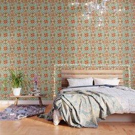 Suzani Blue Waves Wallpaper