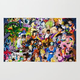 Dragon ball characters Rug
