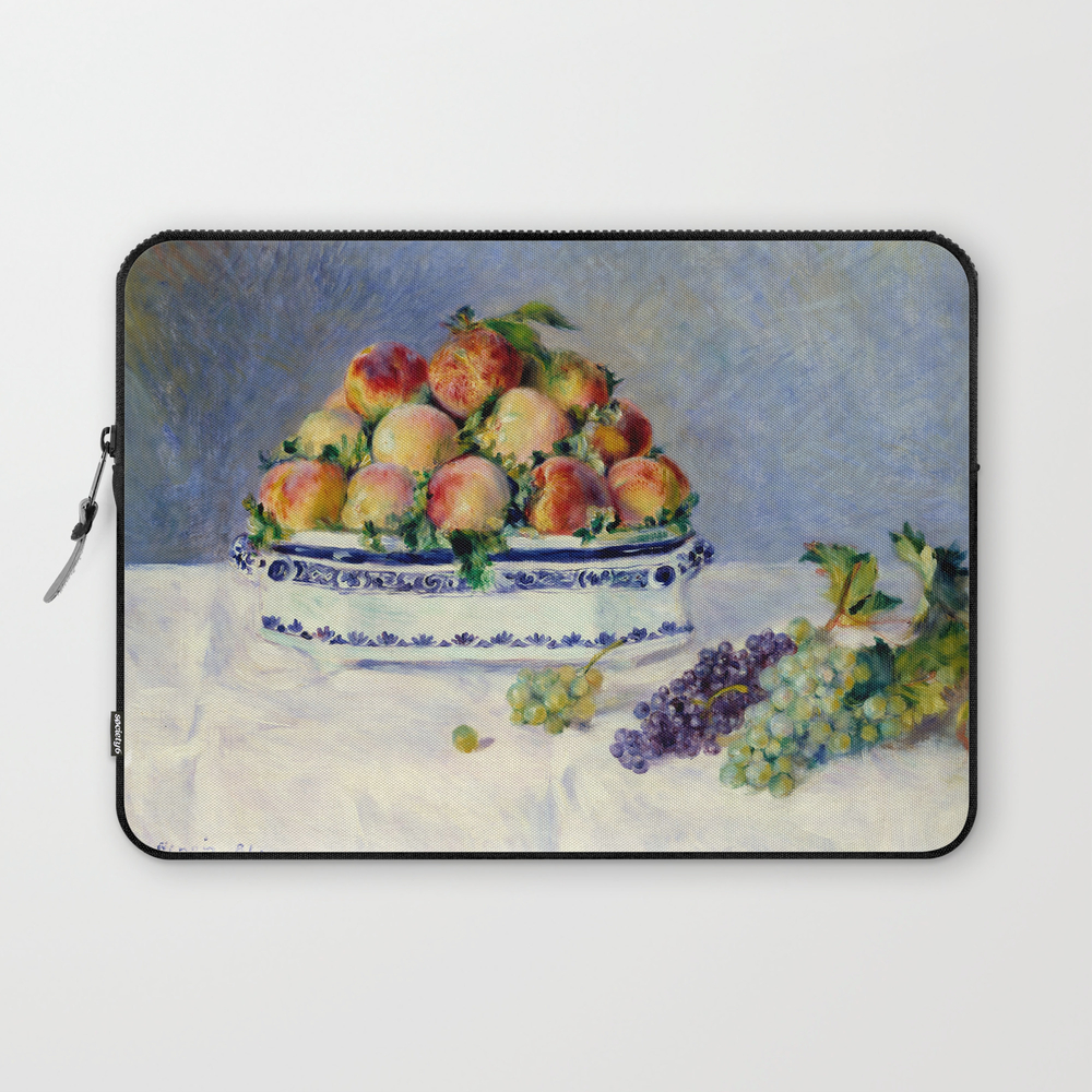 "Auguste Renoir """"still Life With Peaches And Grapes… Laptop Sleeve"" LSV9097175"