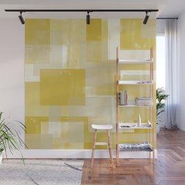 Modern Abstract No. 19 | Citron Wall Mural