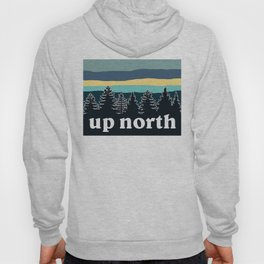 up north, teal & yellow Hoody