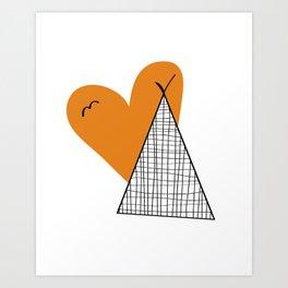 Teepee print  Art Print
