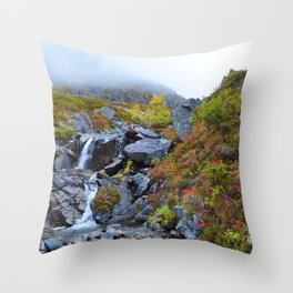 Independence Mine Waterfall Throw Pillow