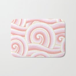 Pink Auspicious Waves Bath Mat