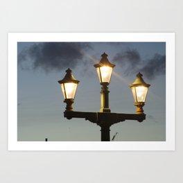 Lightposts  Art Print