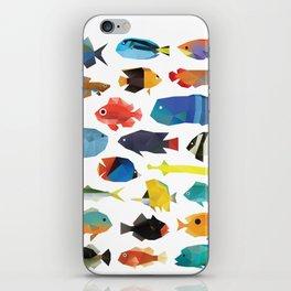 Tropical Fish chart iPhone Skin