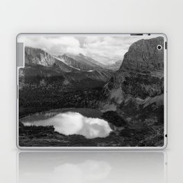 Grinnell Lake from the Trail No. 2 bw Laptop & iPad Skin