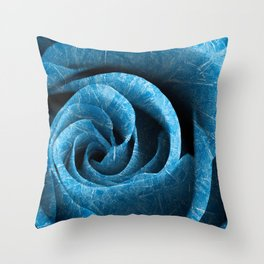 Arctic Rose Throw Pillow