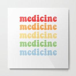 retro medicine Metal Print