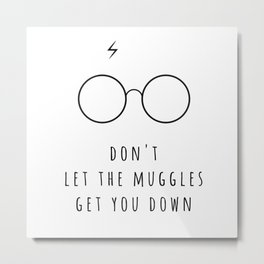 Don't Let The Muggles Get You Down Metal Print