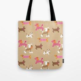 Walkies, Poodles, Sausage dogs and Terriers Tote Bag