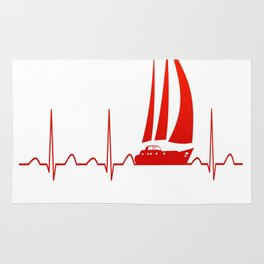 Sailing Heartbeat Rug